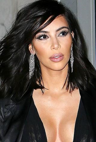 Kim Kardashian antes do platinado (Foto: AKM-GSI Brasil)