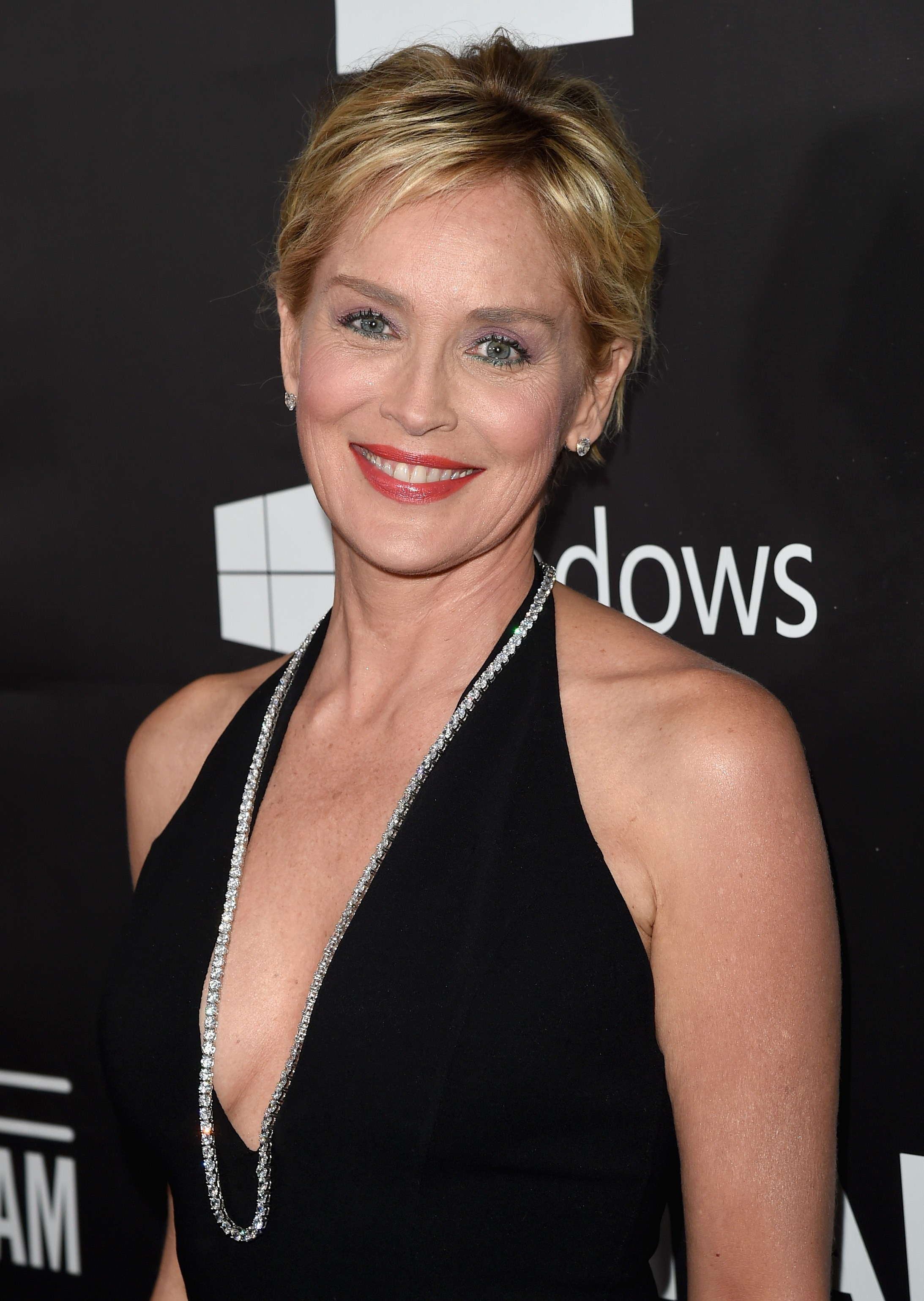 HOLLYWOOD, CA - OCTOBER 29:  amfAR Global Fundraising Chairman Sharon Stone attends amfAR LA Inspiration Gala honoring Tom Ford at Milk Studios on October 29, 2014 in Hollywood, California.  (Photo by Jason Merritt/Getty Images for amfAR) (Foto: Editora Globo)