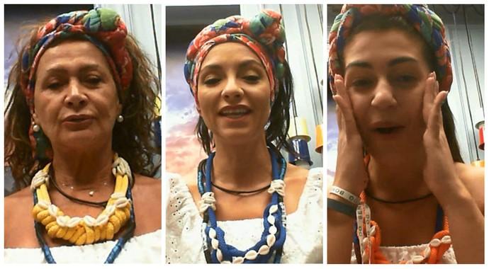 Sisters elogiaram a Festa Bahia (Foto: TV Globo)