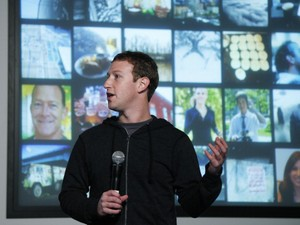 Mark Zuckerberg durante a apresentação do serviço de busca social do Facebook (Foto: Getty Images)