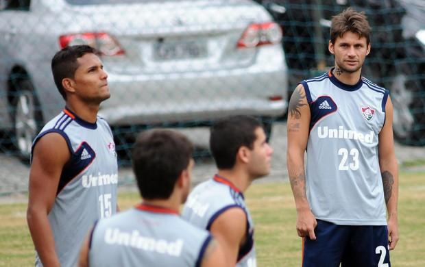Rafael Sobis Anderson Fluminense treino (Foto: Rossana Fraga / Photocâmera)
