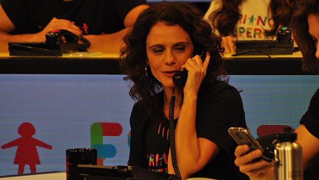 Vanessa Gerbelli está no Mesão da manhã do Dia da Esperança (Foto: Thiago Ferra/Globo)