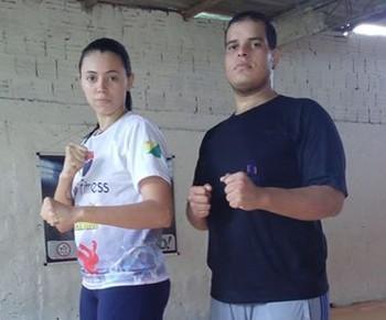 Taís Oliveira e Philip Izidorio, atletas acreanos de Taekwondo (Foto: Taís Oliveira/ arquivo pessoal)
