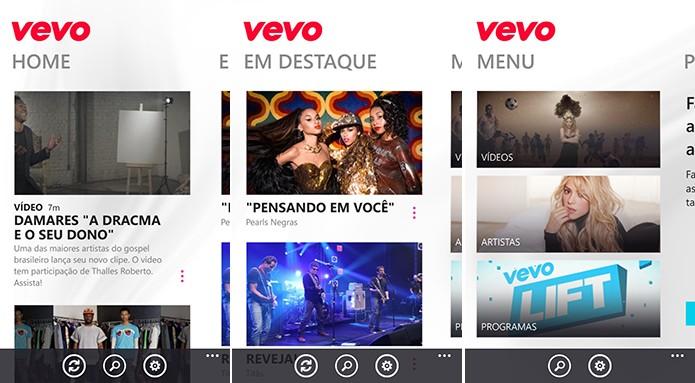 VEVO traz videoclipes de artistas e conteúdos exclusivos para o seu Windows Phone (Foto: Divulgação/Windows Phone Store)