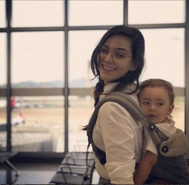 Tainá Muller e o filho Martin (Foto: Instagram)