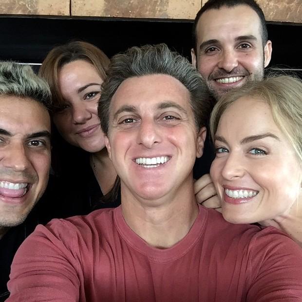 André MArques, Luciano Hulk e Angélica (Foto: Instagram / Reprodução)