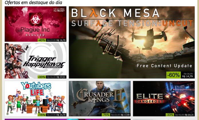 Acompanhe as ofertas do Steam Summer Sale (Foto: Reprodução/Felipe Vinha)