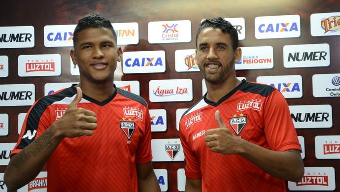 Caion e Michel disseram que estão prontos para jogar pelo Atlético-GO (Foto: Divulgação / Atlético-GO)
