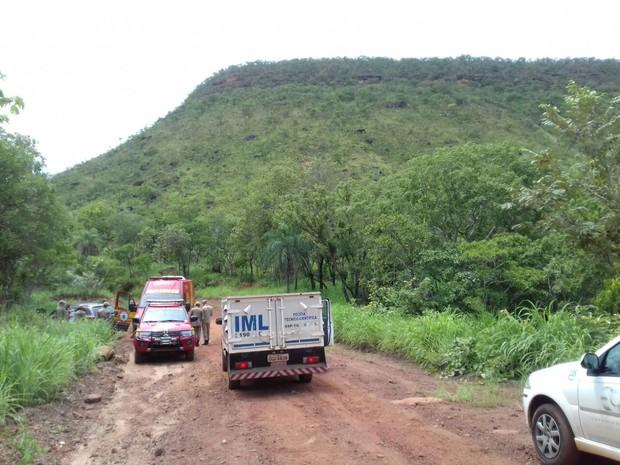 Acidente ocorreu nem uma serra na zona rural de Palmas (Foto: Aurora Fernandes/TV Anhanguera)