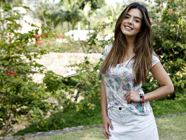 Com carinha de anjo, Giovanna será Bélgica, uma 'cobrinha' (Foto: Inácio Moraes/ TV Globo)