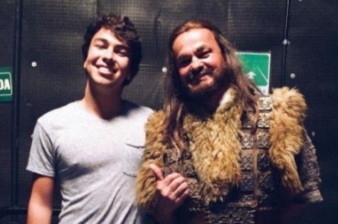 Kadu Moliterno com o filho Kenui (Foto: Reprodução)