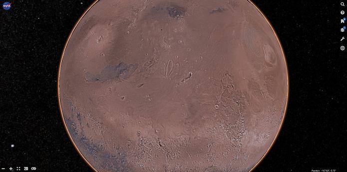 Mars Trek é um mapa interativo em 3D (Foto: Reprodução/Aline Jesus)a