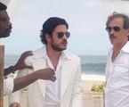 Marco Pigossi em cena do último capítulo com Fabrício Boliveira e Guilherme Fontes | Maria Eduarda Freitas/Gshow