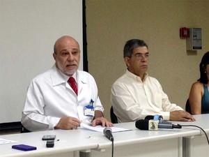 Secretário de Saúde deu explicações sobre a greve dos servidores públicos (Foto: Eduardo Guidini/ G1)