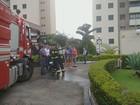 Exaustor pega fogo e causa incêndio em apartamento de Campinas, SP