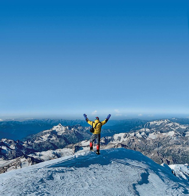 The man at Mount Elbrus top. Russia (Foto: Getty Images/iStockphoto)