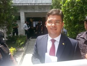 hilton souto maior, advogado de Amadeu Rodrigues (Foto: Phelipe Caldas / GloboEsporte.com/pb)