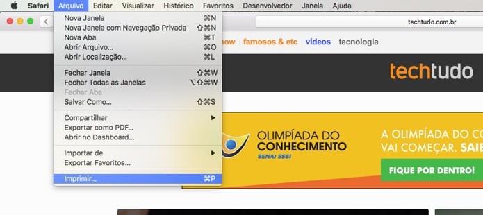 Caminho para Imprimir (Foto: Reprodução/André Sugai) (Foto: Caminho para Imprimir (Foto: Reprodução/André Sugai))