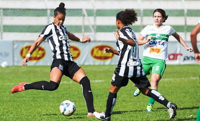 Rio Preto Futebol Feminino x Santos Futebol Feminino (Foto: Ferdinando Ramos / ALLSPORTS)