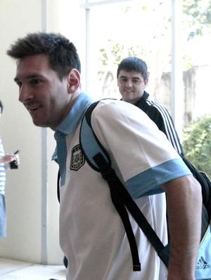 Messi Chegada Argentina (Foto: Agência EFE)