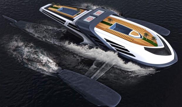 Projeto de iate luxuoso está avalido em US$ 100 milhões (Foto: Divulgação)