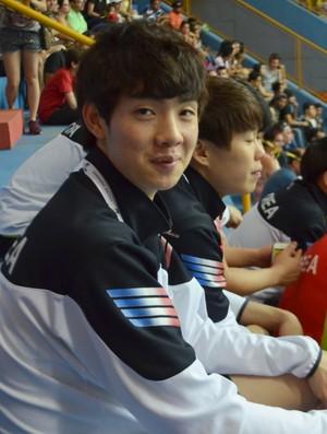 goleiro Pyun Uibeom Coreia do Sul Mundial Handebol Júnior 2015 (Foto: Alex Rocha)