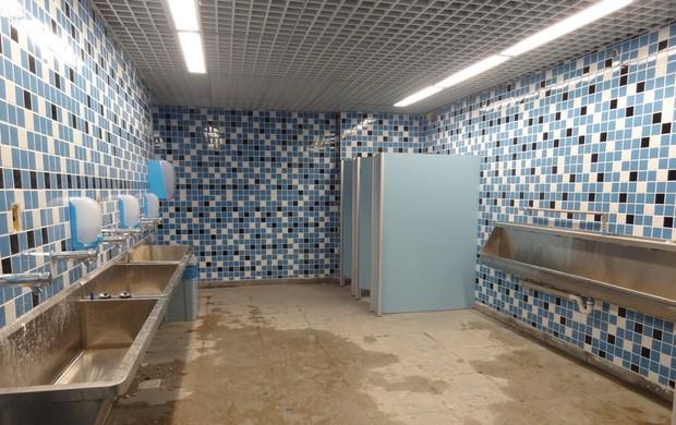 Arena área externa e acessos ainda têm obras e contrastam com campo  globoe -> Cuba Para Banheiro Santa Cruz Acabamentos