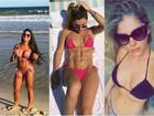 Famosas aproveitaram último dia do verão na praia ou piscina; confira: