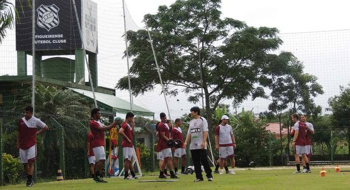 figueirense, treino físico, pré-temporada, figueira,  (Foto: Renan Koerich)