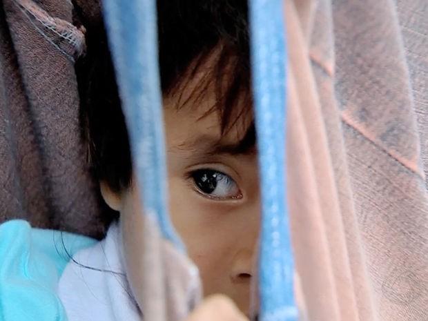 Crianças indígenas passam por acompanhamento nutricional no projeto (Foto: Reprodução/TVCA)