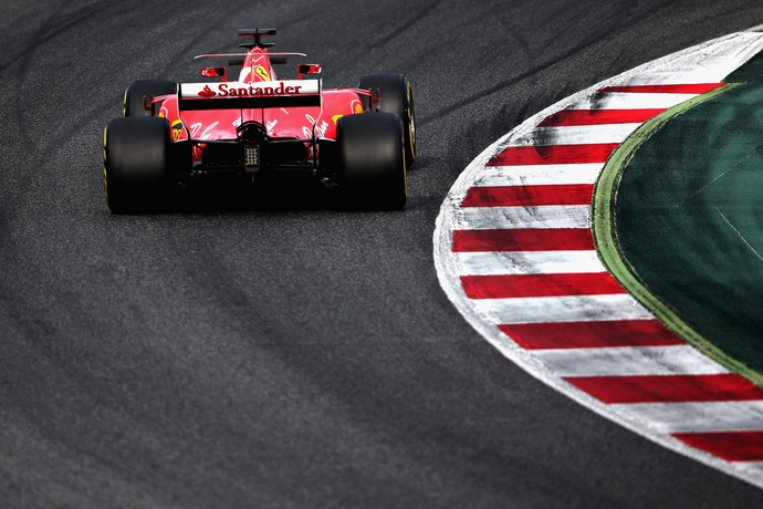 Ferrari, testes, Fórmula 1, Barcelona, 2017 (Foto: Getty Images)