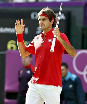 Roger Federer tênis Londres 2012 Olimpíadas quartas (Foto: Reuters)