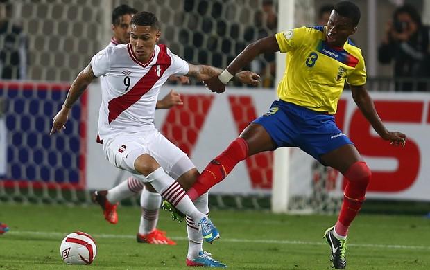 Paolo Guerrero, Peru 1 x 0 Equador, eliminatórias (Foto: EFE)