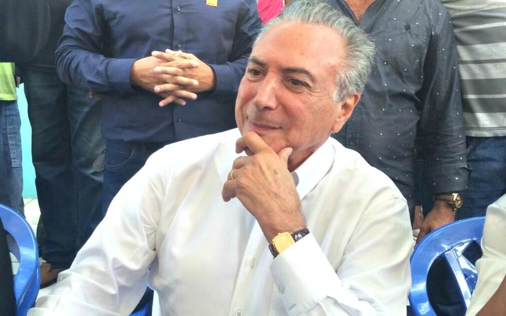 Michel Temer recebeu senadores do Acre nesta quinta-feira (18) antes de cancelar compromissos  (Foto: Iryá Rodrigues/G1)