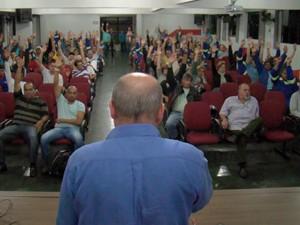 Trabalhadores da Sabesp entram em greve nesta terça-feira (4) (Foto: Divulgação/SIntius)