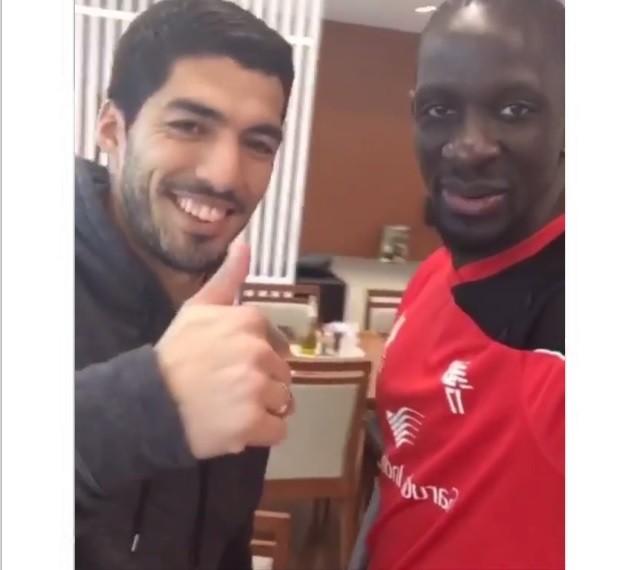 Luis Suárez e Mamadou Sakho, Liverpool
