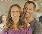 Mariana Ximenes e Malvino Salvador em cena de 'Haja coração'   TV Globo