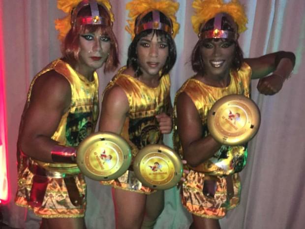 Fantasia de Gladiadora do bloco As Muquiranas (Foto: Divulgação)