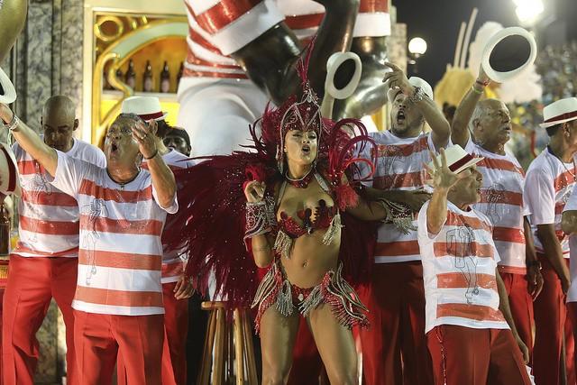 Desfile da Salgueiro no Carnaval 2016 (Foto: Fernando Maia/ Riotur)