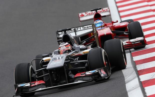 Nico Hulkenberg e Fernando Alonso GP da Coreia 2013 (Foto: Getty Images)