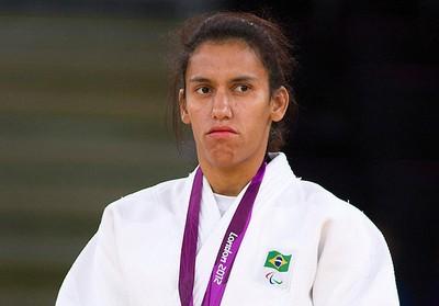 Michele Ferreira Judô medalha de prata paralimpíadas (Foto: Fernando Maia / CPB)