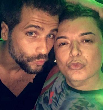 Bruno Gagliasso e David Brazil (Foto: Reprodução/Snapchat)