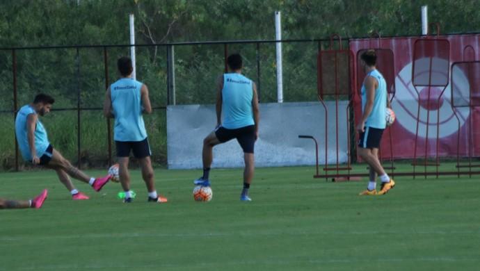 San Lorenzo treino CT do Parque gIGANTE (Foto: Eduardo Deconto/GloboEsporte.com)