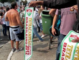 faixa campeão Fluminense Morumbi (Foto: Rafael Cavalieri / Globoesporte.com)
