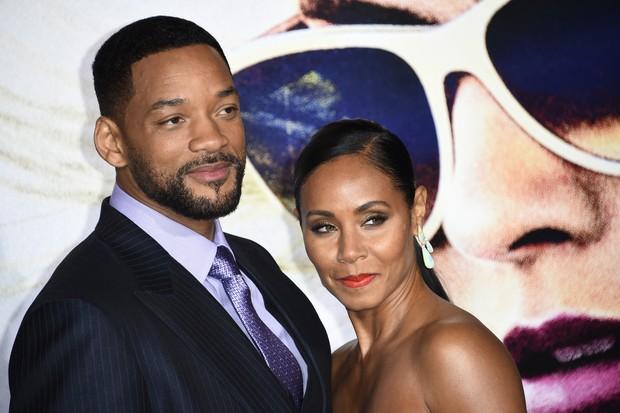 Will Smith e a mulher, Jada Pinkett Smith, em première de filme em Los Angeles, nos Estados Unidos (Foto: Robyn Beck/ AFP)