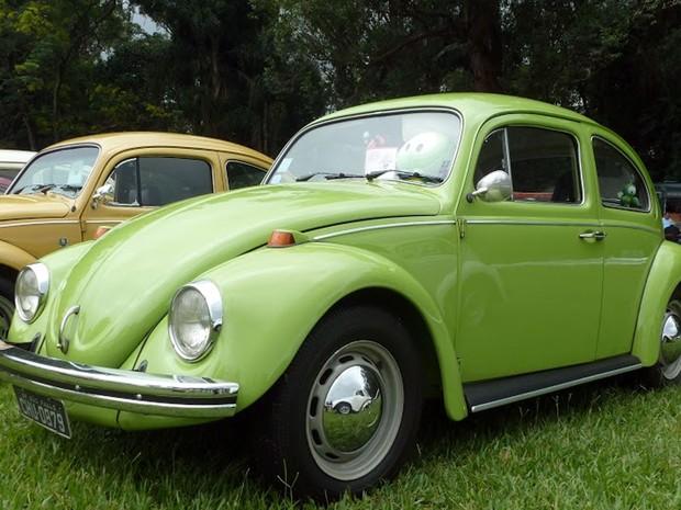 """O fusca """"Horácio"""" durante exposição de carros antigos (Foto: Divulgação )"""