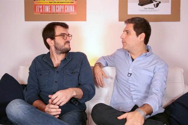 Rodrigo Teixeira e Dudi Machado (Foto: Daphne Ruivo)