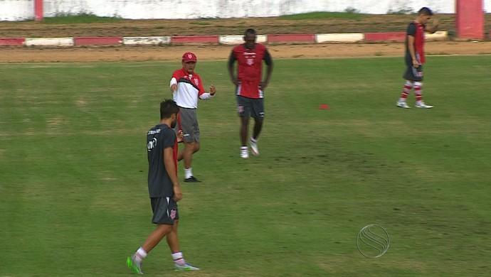 Sergipe enfrenta novamente o Coruripe neste sábado (Foto: Reprodução/TV Sergipe)