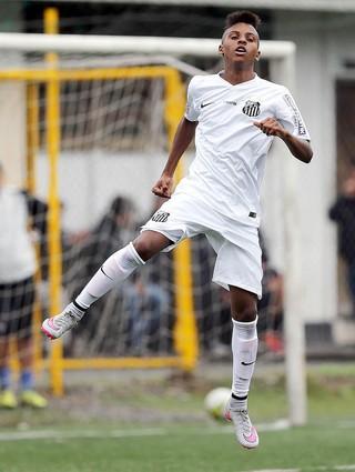 Rodrygo - Santos (Foto: Pedro Ernesto Guerra Azevedo/Divulgação Santos FC)
