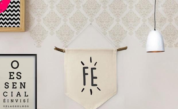 [DECORAÇÃO] Passo a passo de flâmula de tecido para parede (Foto: Juliana Pinna / EGO)